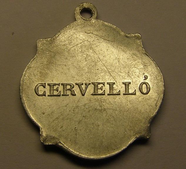 Medalla de Santa Maria de Cervelló, o dels Socos. Cervelló. Finales siglo XIX o principios del XX. Med_1819