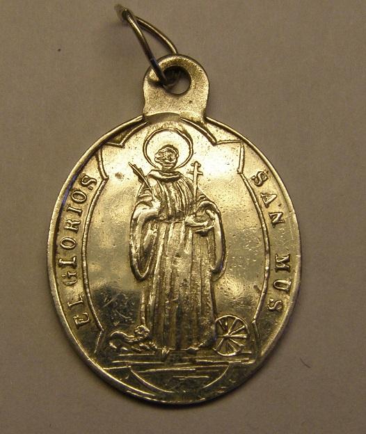 Medalla de Sant Mus y anagrama mariano. Finales siglo XIX. Med_2014