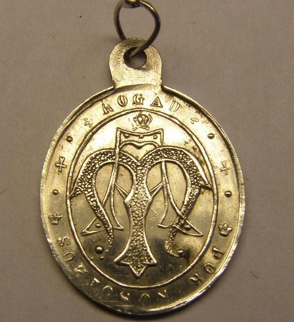 Medalla de Sant Mus y anagrama mariano. Finales siglo XIX. Med_2015