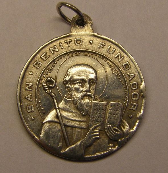 Medalla de San Benito. Finales siglo XIX. Med_2016