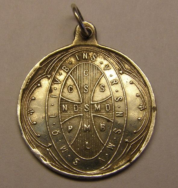 Medalla de San Benito. Finales siglo XIX. Med_2017