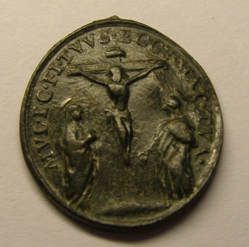 Medalla de Santa Margarita de Cortona. Siglo XVIII. Medalc11