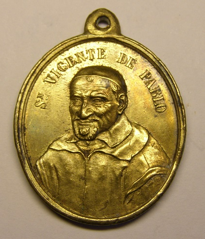 "Medalla de San Vicente de ""Pablo"", (de Paul), siglo XIX. Medall10"