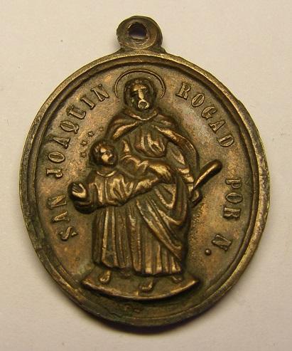 Medalla religiosa de San Joaquín, siglo XIX. Medall12