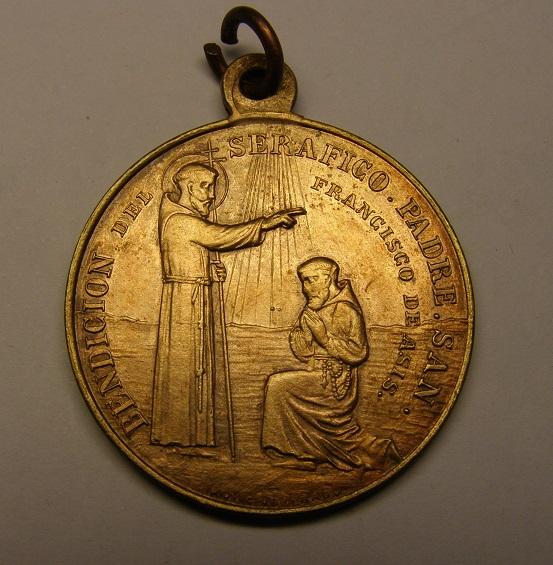 Medalla de la bendición de San Francisco de Asís, finales siglo XIX. Medall14