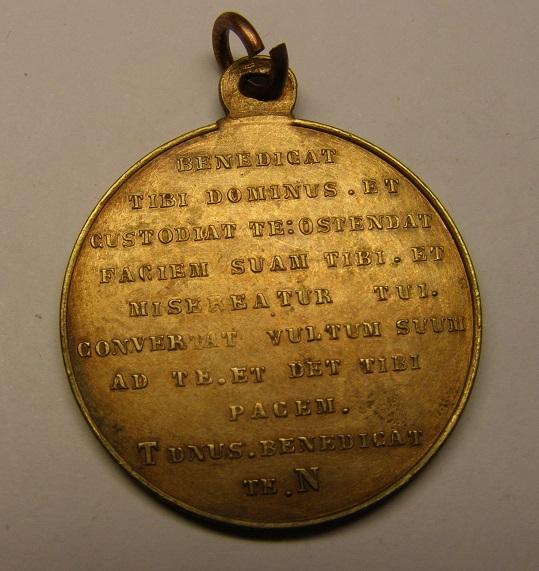 Medalla de la bendición de San Francisco de Asís, finales siglo XIX. Medall15