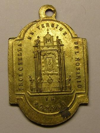 Medalla de la Virgen del Rosario de Pompeya, siglo XIX. Medall23