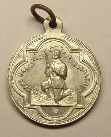 Medalla de Sant Galderic, iglesia de S. Martí del Canigó, principios siglo XX. Medall24