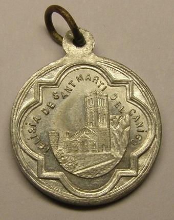 Medalla de Sant Galderic, iglesia de S. Martí del Canigó, principios siglo XX. Medall25
