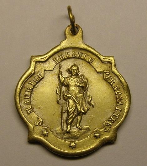 Medalla de San Mauricio, iglesia de Sant Maurici. Siglo XIX. Medall26