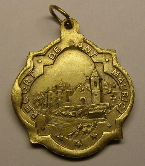 Medalla de San Mauricio, iglesia de Sant Maurici. Siglo XIX. Medall27