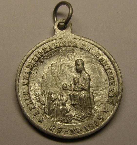 Medalla muy curiosa de la aplec tradicionalista de Montserrat, año 1935. Medall29