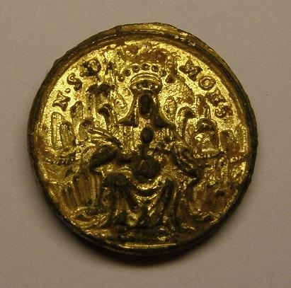 Medalla de Nª Sª de Montserrat - San Benito,  siglo XVIII. Medall30
