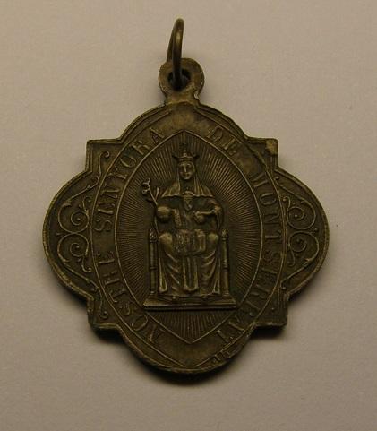 Medalla de Nª Sª de Montserrat- San Benito, finales de siglo XIX. Medall32