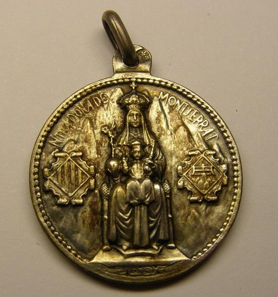 Medalla de Nª Sª de Montserrat, primera mitad del siglo XX. Medall36