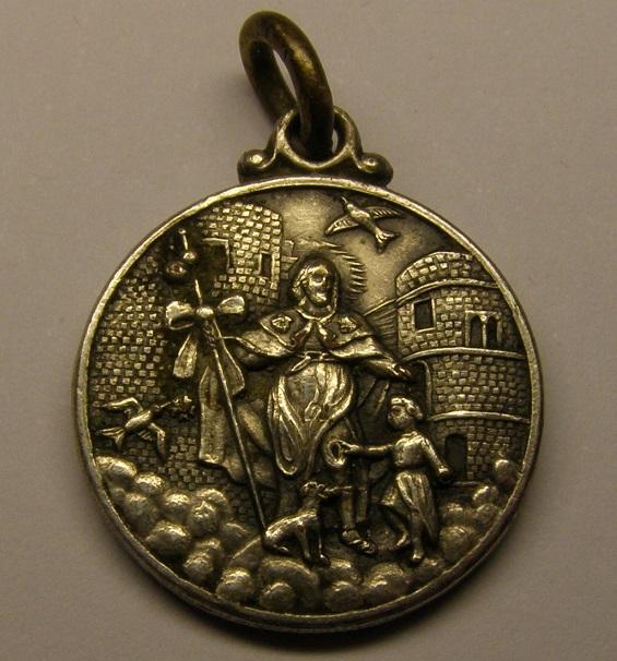 Medalla de plata de Sant Roc, plaza nueva de Barcelona. Primera mitad siglo xx. Medall38