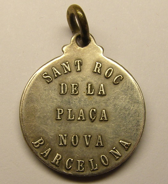 Medalla de plata de Sant Roc, plaza nueva de Barcelona. Primera mitad siglo xx. Medall39