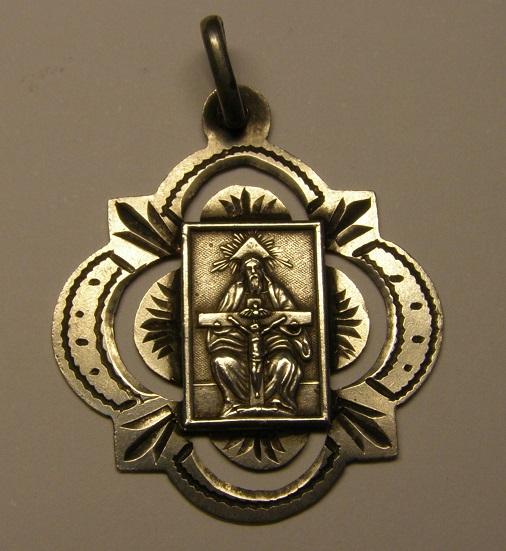 Medalla Santissima Trinitat, Espluga de Francolí, final s. XIX, principios s. xx Medall40