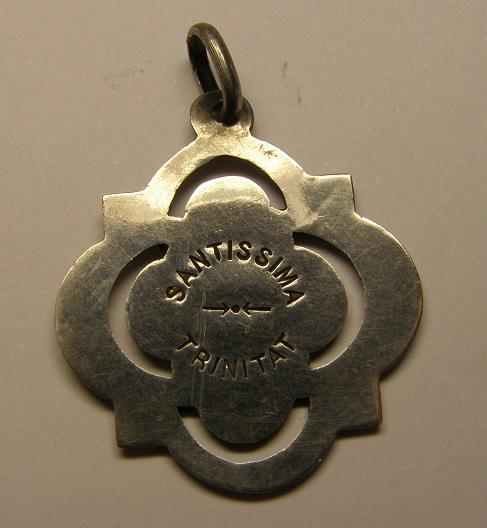 Medalla Santissima Trinitat, Espluga de Francolí, final s. XIX, principios s. xx Medall41
