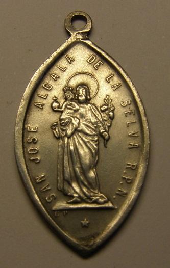 Medalla de San José y Nª Sª de la Vega, final s. XIX. Alcalá de la Selva. (R.M. SXIX-Ot 17) (AM) Medall44