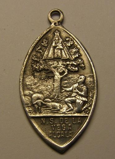 Medalla de San José y Nª Sª de la Vega, final s. XIX. Alcalá de la Selva. Medall45