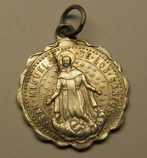 Medalla San Segismundo Rey de Borgoña, y San Miguel de los Santos, final s. XIX Medall47