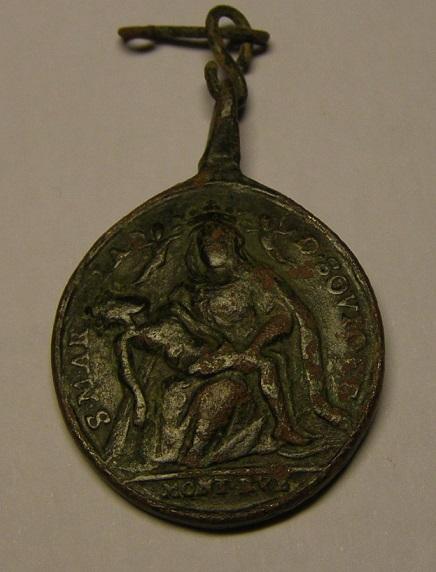 Virgen de Soviore de Monterosso / Santa Catalina de Genova,  S-XVIII. Medall49