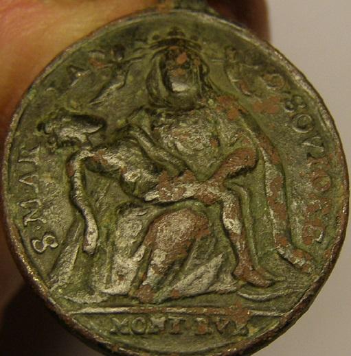 Virgen de Soviore de Monterosso / Santa Catalina de Genova,  S-XVIII. Medall50