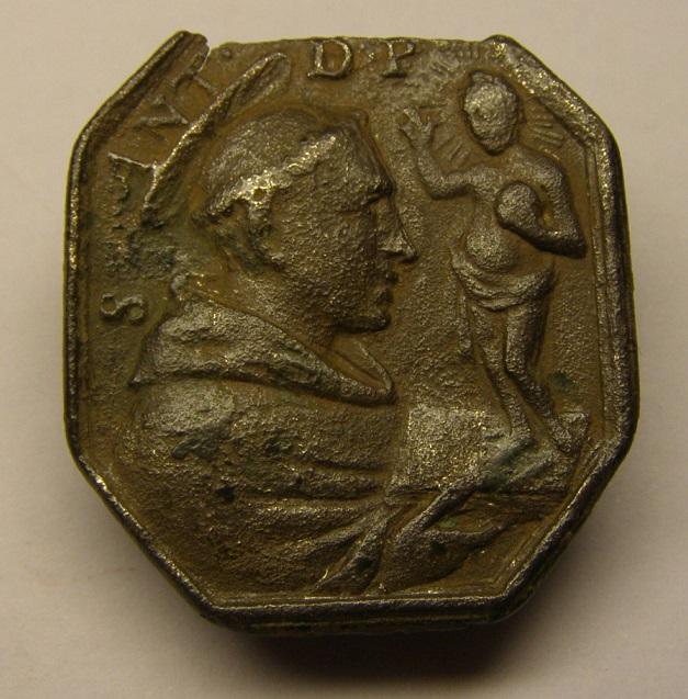 Medalla de S. Francisco de Asis y S. Antonio de Padua, siglo XVII. Meeed710