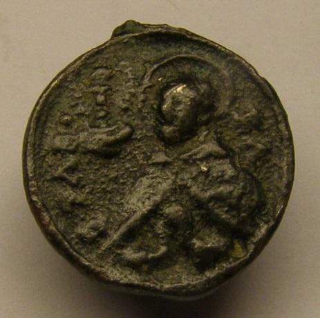 Medalla de San Francisco y San Pascual Bailón. Siglo XVIII. Meeed711