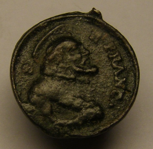 Medalla de San Francisco y San Pascual Bailón. Siglo XVIII. Meeed712