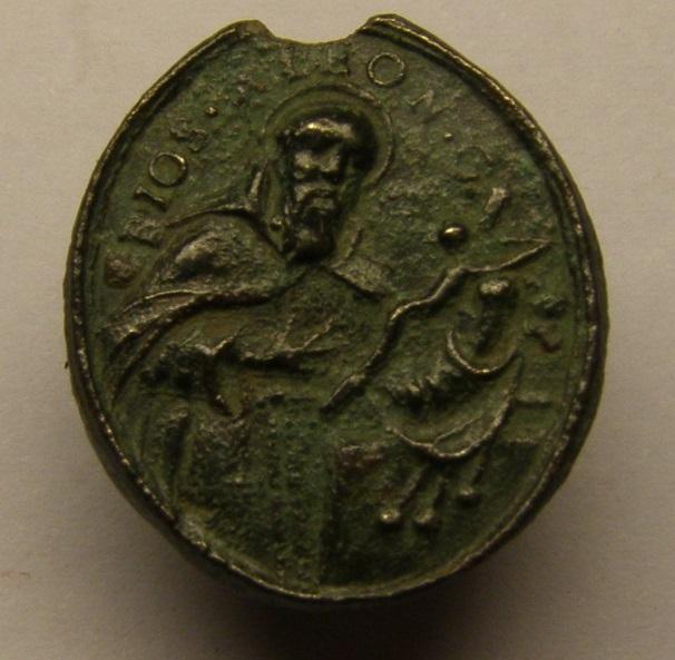 Otra medalla del siglo XVIII, de San Fidel de Sigmaringa y José de Leonisa. Meeed713