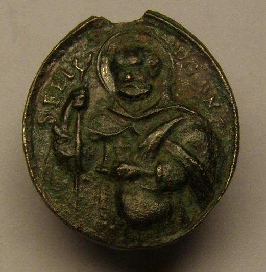 Otra medalla del siglo XVIII, de San Fidel de Sigmaringa y José de Leonisa. Meeed714