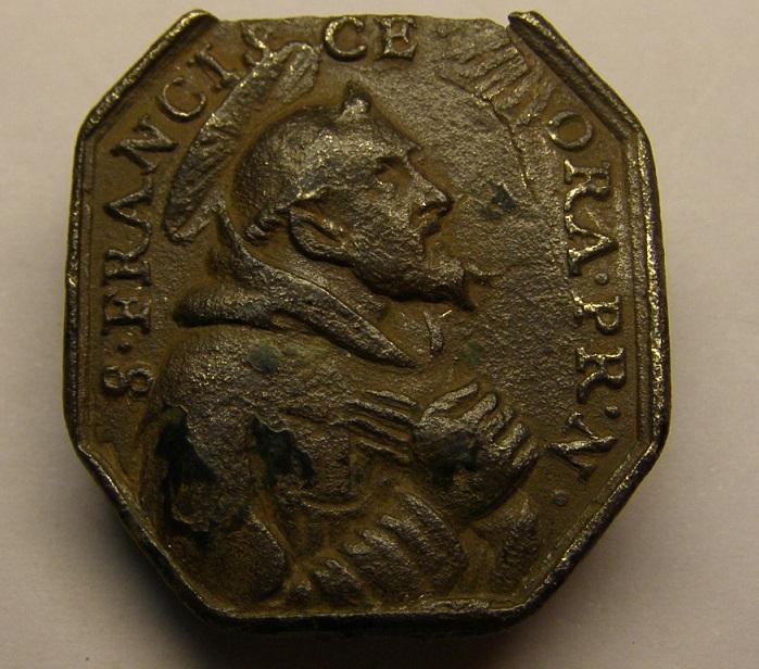 Medalla de S. Francisco de Asis y S. Antonio de Padua, siglo XVII. Meeed910