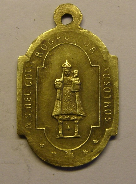 Medalla de Nuestra Señora del Coll, finales siglo XIX. (AM) Tc_12_24