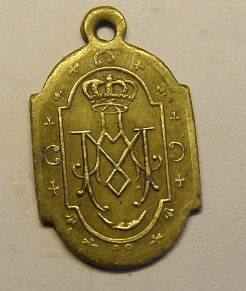 Medalla de Nuestra Señora del Coll, finales siglo XIX. (AM) Tc_12_25