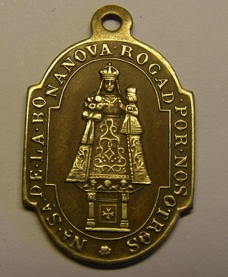 Medalla de Nª Sª de la Bonanova, finales siglo XIX. (AM) Tc_12_26