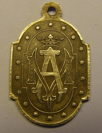 Medalla de Nª Sª de la Bonanova, finales siglo XIX. (AM) Tc_12_27