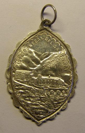 Medalla de la Virgen de Núria y San Gil. (AM) Tc_12_29