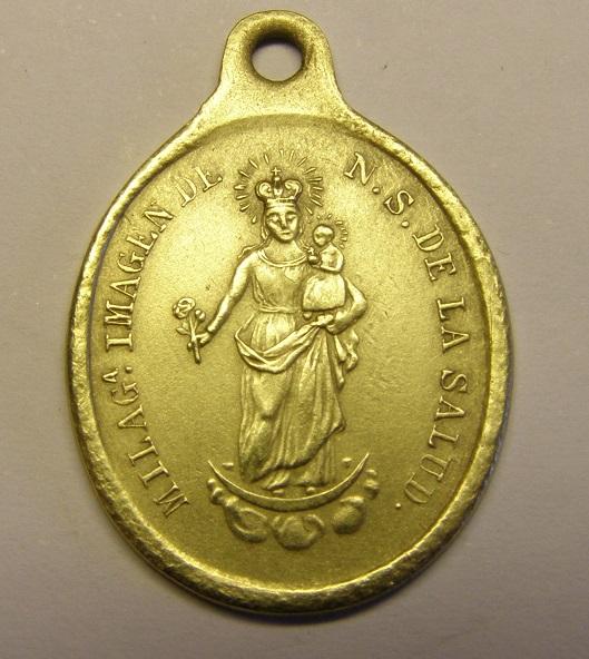 Medalla de Nuestra Señora de la Salud, siglo XIX. Tc_12_30