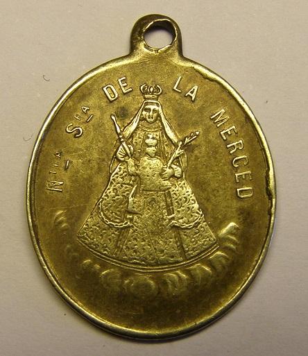 Medalla de Nª Sª de la Merced y San Ramón Nonato, siglo XIX. Barcelona. Tc_12_32