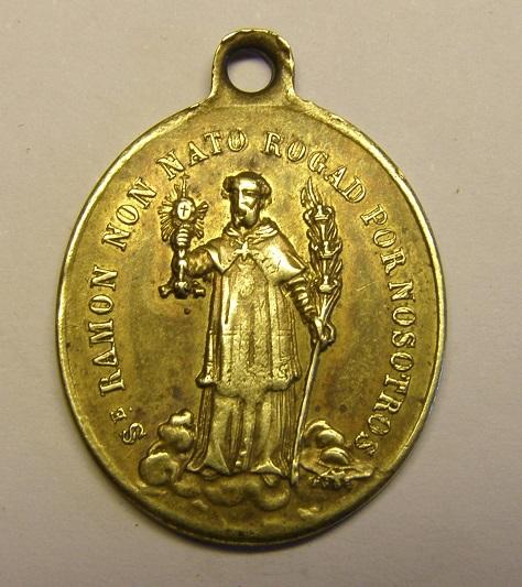 Medalla de Nª Sª de la Merced y San Ramón Nonato, siglo XIX. Barcelona. Tc_12_33
