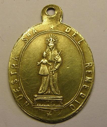 Medalla de Nª Sª del Remedio, siglo XIX. Tc_12_35