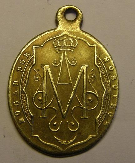 Medalla de Nª Sª del Remedio, siglo XIX. Tc_12_36