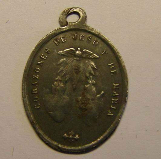 Medalla de San Ignacio, de hierro estañado, finales siglo XIX. Tc_12_39