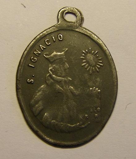 Medalla de San Ignacio, de hierro estañado, finales siglo XIX. Tc_12_40