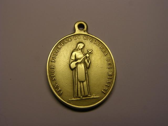 Medalla de Sor Filomena de Sª Coloma dei Minimi. Siglo XIX. (R.M.) Tc_14_12