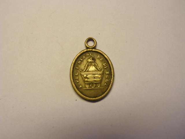 Medalla  de San Peregrino y San Blanco, rey de Escocia. Tc_15_10