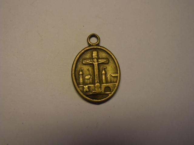 Medalla  de San Peregrino y San Blanco, rey de Escocia. Tc_15_11