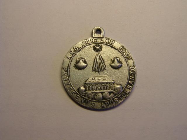 Curiosa medalla incusa del Año Jubilar de 1937, Santiago de Compostela. Tc_15_18